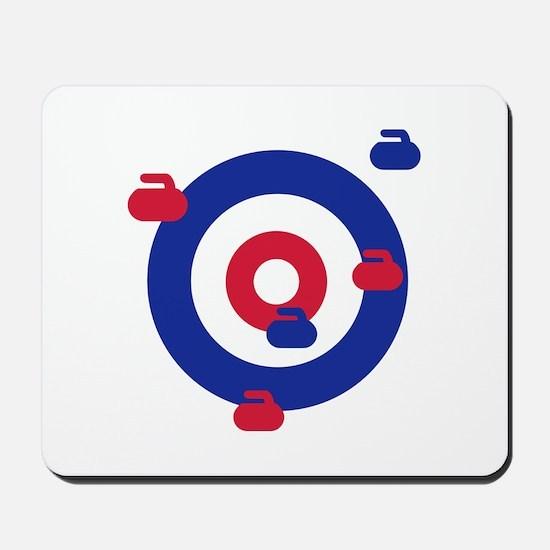 Curling field target Mousepad