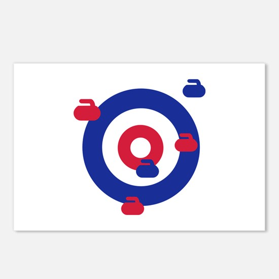 Curling field target Postcards (Package of 8)