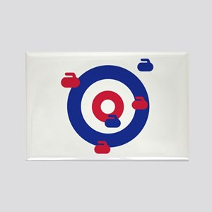 Curling field target Rectangle Magnet