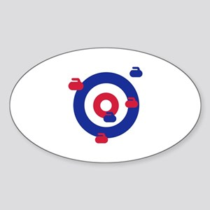Curling field target Sticker (Oval)