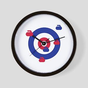 Curling field target Wall Clock