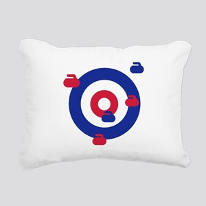 Curling field target Rectangular Canvas Pillow