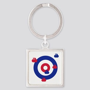 Curling field target Square Keychain