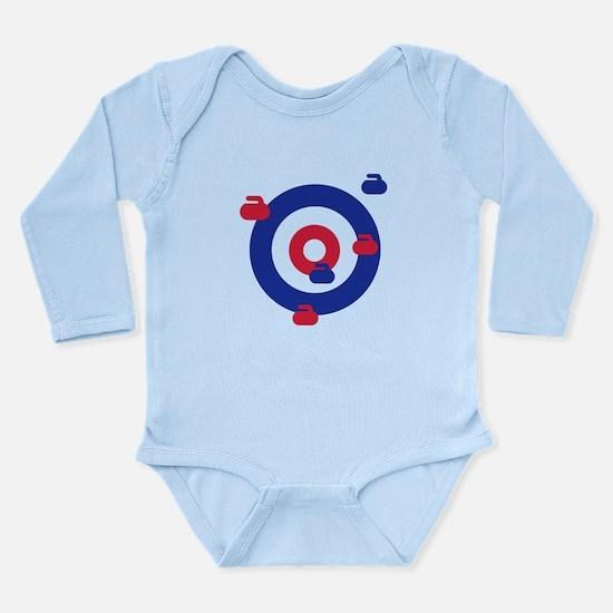 Curling field target Long Sleeve Infant Bodysuit