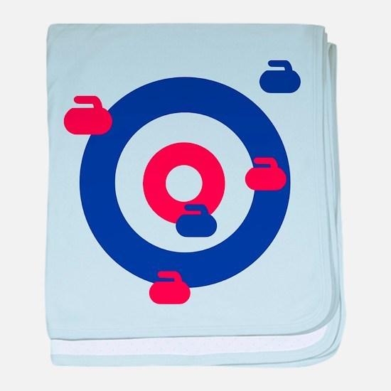 Curling field target baby blanket