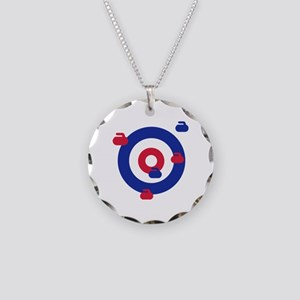 Curling field target Necklace Circle Charm