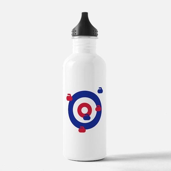 Curling field target Water Bottle