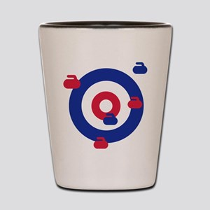 Curling field target Shot Glass