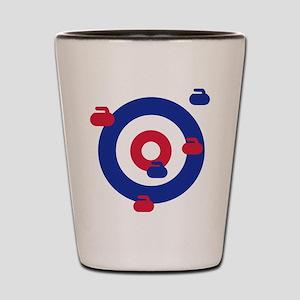 Curling field target Shot Glass