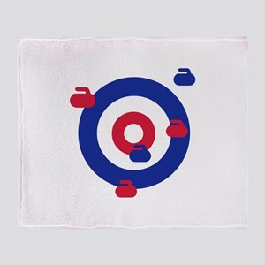 Curling field target Throw Blanket