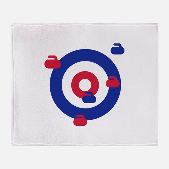 Curling field target Throw Blanket
