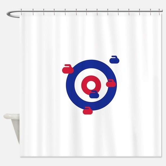 Curling field target Shower Curtain