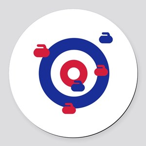 Curling field target Round Car Magnet