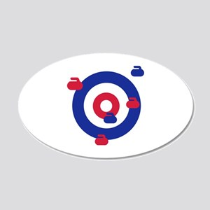Curling field target 20x12 Oval Wall Decal