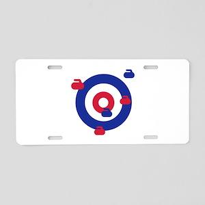 Curling field target Aluminum License Plate