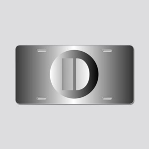 Polished Steel (D) Aluminum License Plate