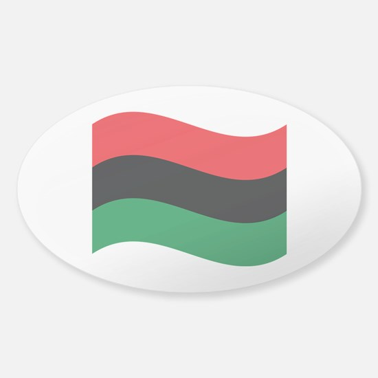 The Red, Black and Green Flag Decal