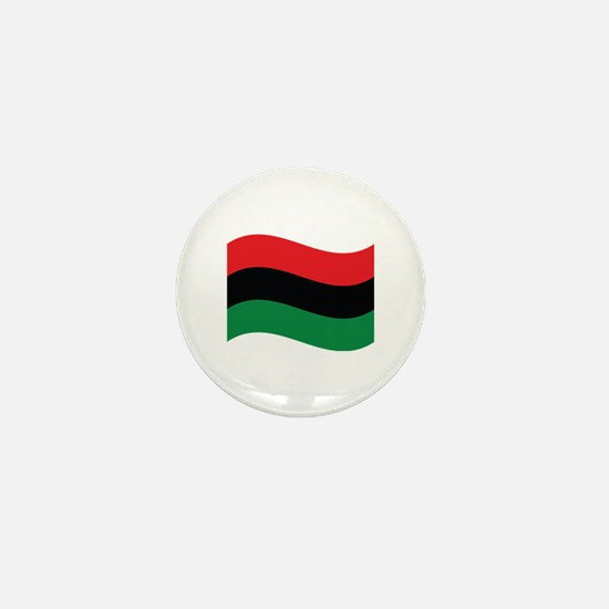 The Red, Black and Green Flag Mini Button