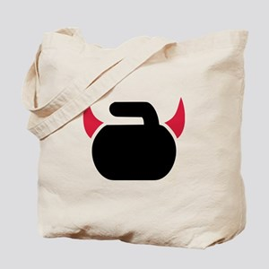 Curling devil Tote Bag
