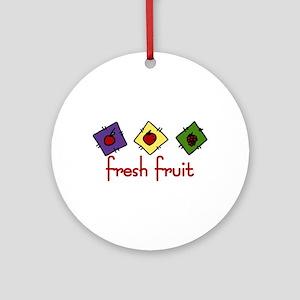 Fresh Fruit Ornament (Round)