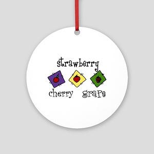 Strawberry Ornament (Round)