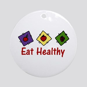 Eat Healthy Ornament (Round)