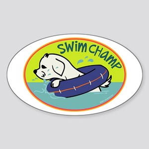 Swim Champ Oval Sticker