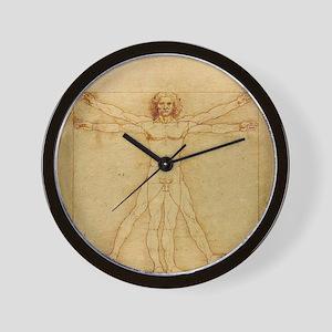 Leonardo Da Vinci Vitruvian Man Wall Clock