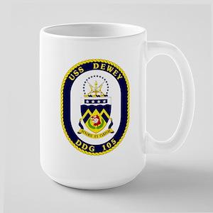 USS Dewey DDG 105 Large Mug