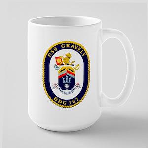 DDG 107 USS Gravely Large Mug