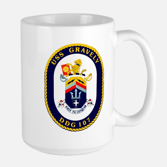 DDG 107 USS Gravely Large Mug