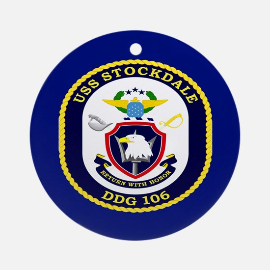 USS Stockdale DDG 106 Ornament (Round)