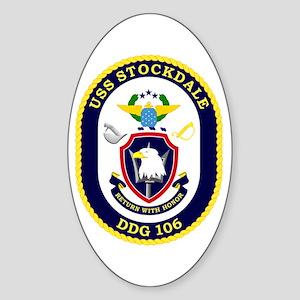 USS Stockdale DDG 106 Sticker (Oval)