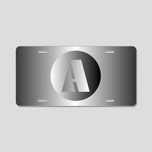 Polished Steel (A) Aluminum License Plate
