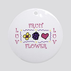 Luv Fruit Ornament (Round)
