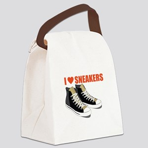 I Love Sneakers Canvas Lunch Bag