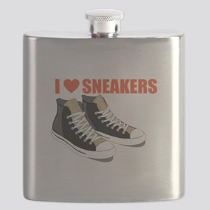 I Love Sneakers Flask