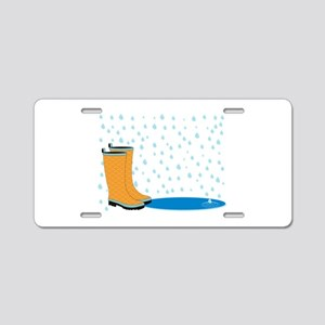 Rainboots Aluminum License Plate
