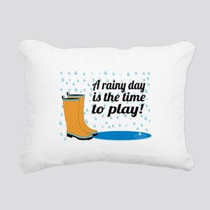 A Rainy Day Is The Time To Play! Rectangular Canva