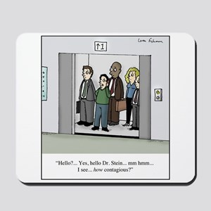Contagious on Elevator Cartoon Mousepad