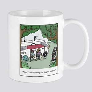 RV Great Outdoors Cartoon 11 oz Ceramic Mug