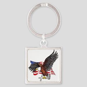 USA Eagle with Cross Keychains
