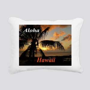 Sunset North Shore Oahu Rectangular Canvas Pillow
