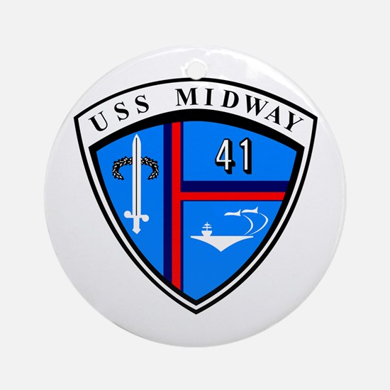 Uss Midway Cv-41 Ornament (round)
