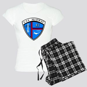 Uss Midway Cv-41 Women's Light Pajamas