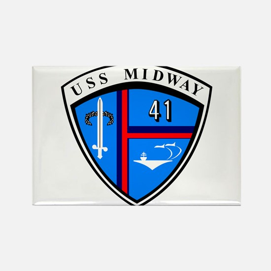 Uss Midway Cv-41 Rectangle Magnet Magnets