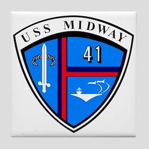 Uss Midway Cv-41 Tile Coaster