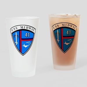 USS Midway CV-41 Drinking Glass