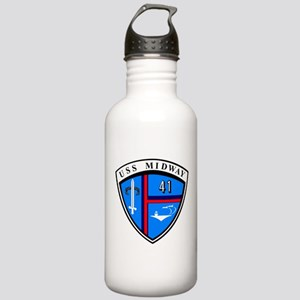 USS Midway CV-41 Stainless Water Bottle 1.0L