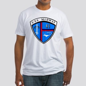 Uss Midway Cv-41 Fitted T-Shirt